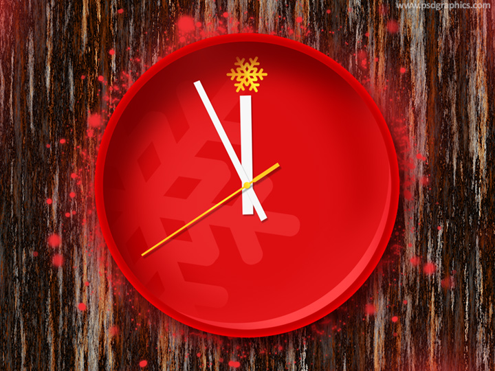 Christmas clock PSD
