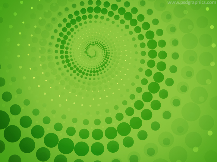 Green dotted twirl