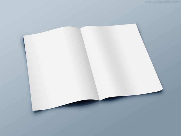 blank folded paper template psd psdgraphics