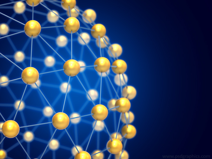 Blue network sphere