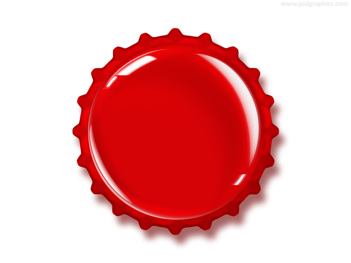 Bottle cap PSD