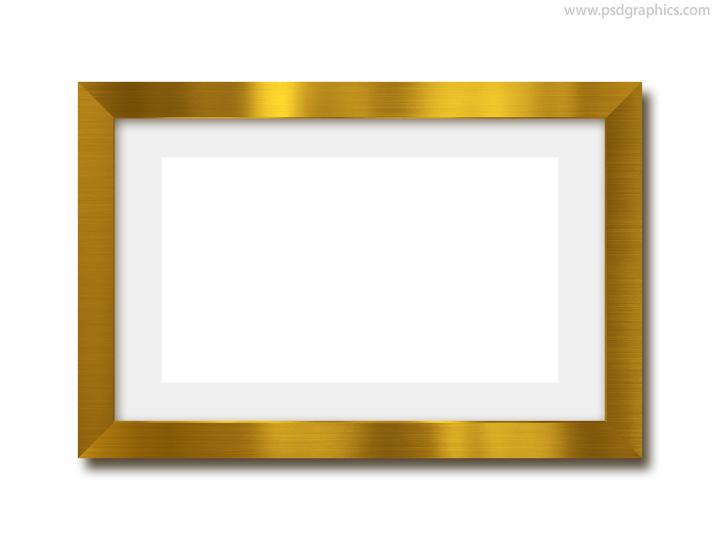 Gold photo frame