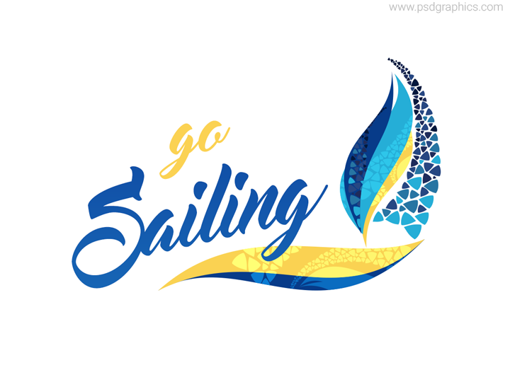 Sailing logo vector