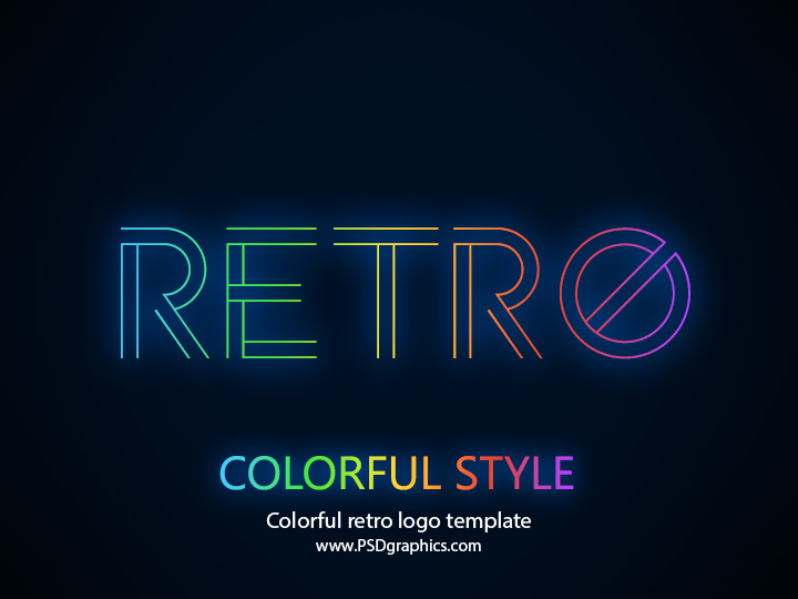 Retro logo template PSD