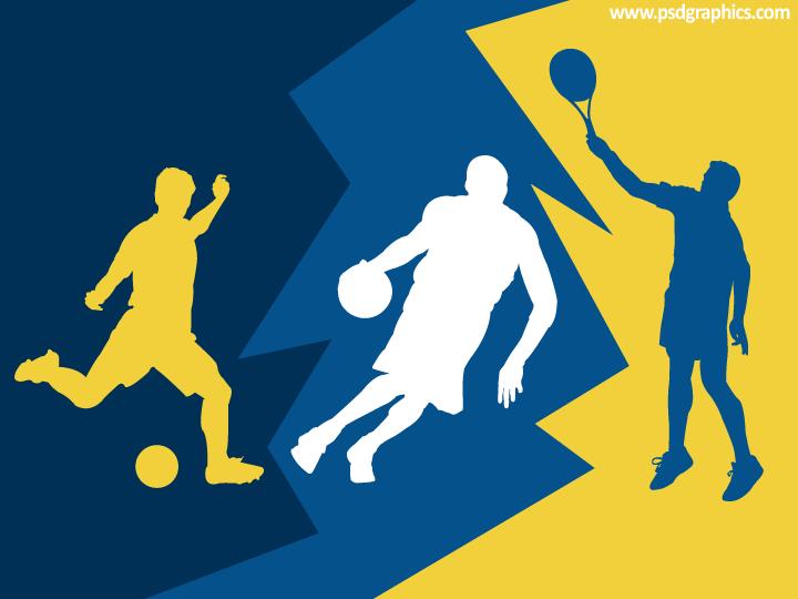 Football, basketball and tennis
