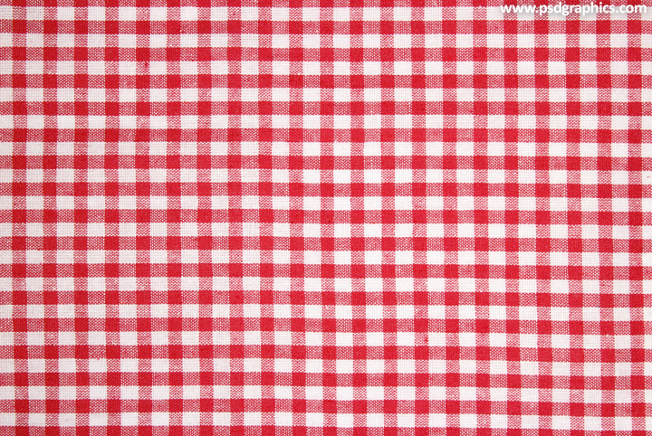 Red white gingham