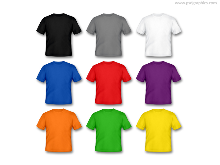 T-shirts different colors