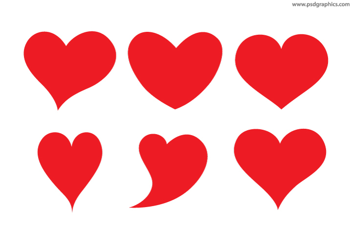 vector hearts shapes psdgraphics rh psdgraphics com vector heart shape vector heart shape
