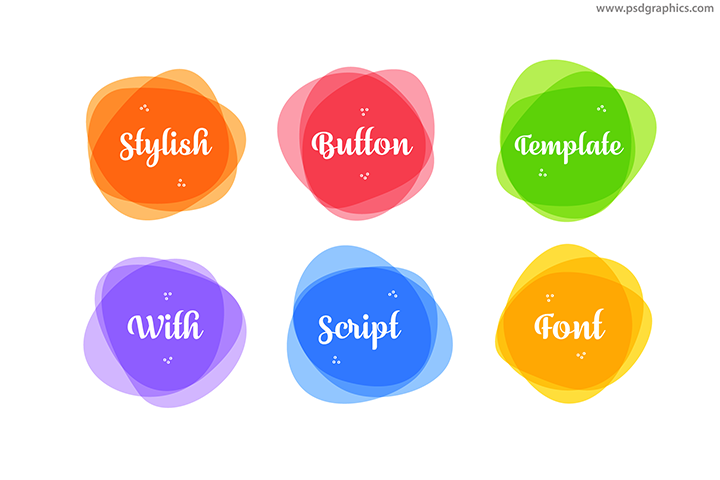 Round vector buttons