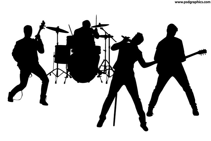 Rock band silhouette vector | PSDGraphics