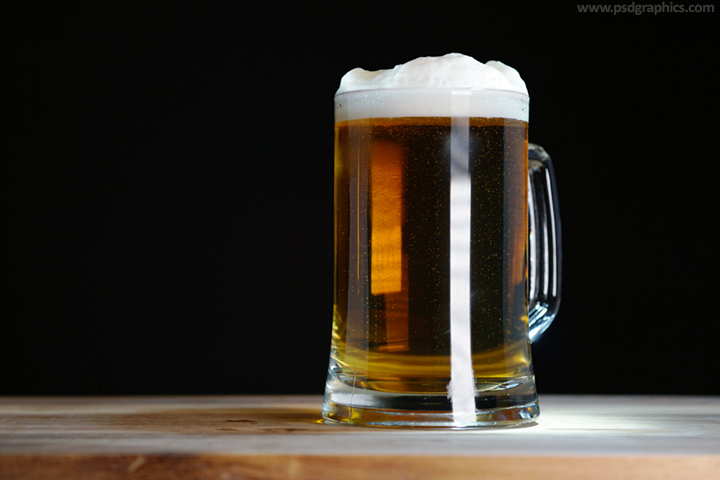 Glass of beer background