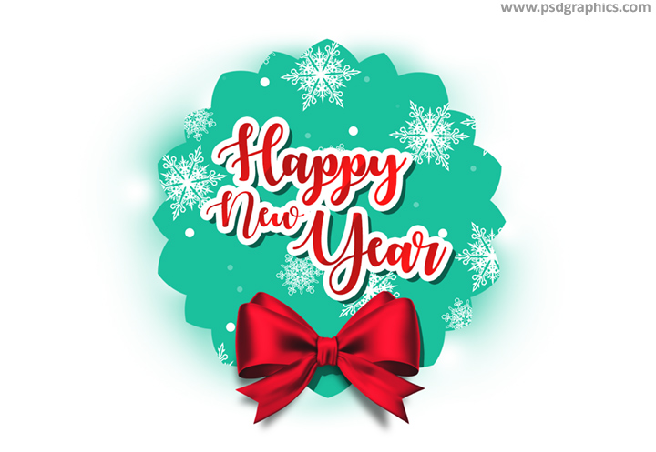 Read Hy New Year Tag Psd Template