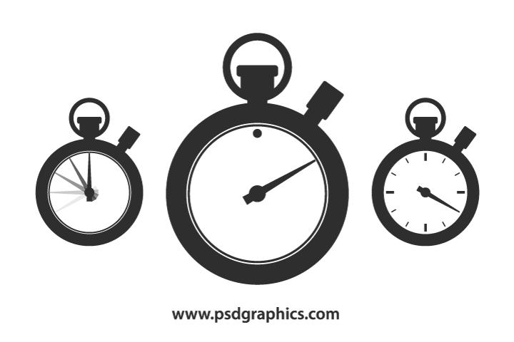 Vector stopwatch shape