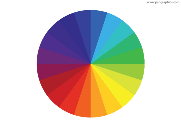 Rainbow colors wheel
