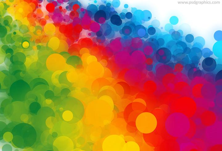 Colorful dots decoration