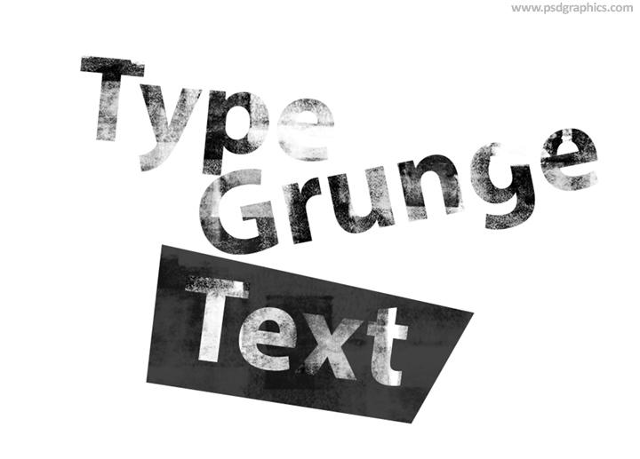 Grunge text PSD