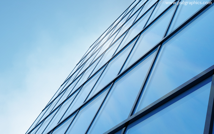 Modern building glass background