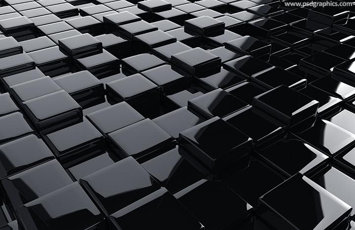 Black 3D cubes