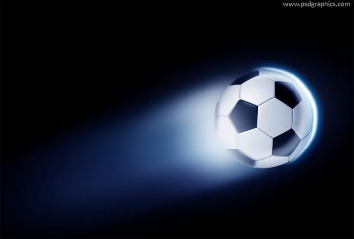 Football ball PSD