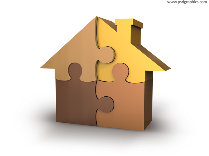 House puzzle PSD