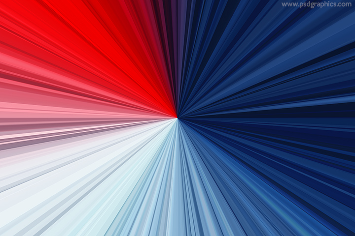 Red and blue rays