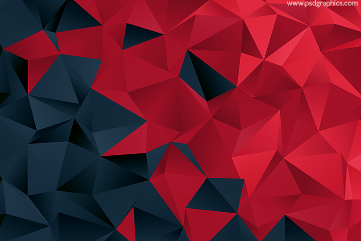Red triangular pattern