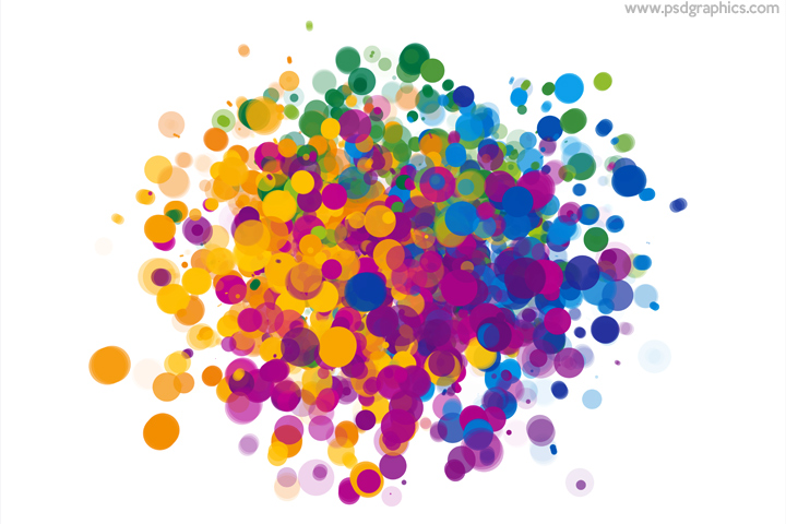 Colorful dots explosion