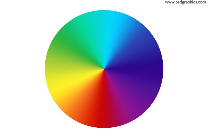 Rainbow colors PSD