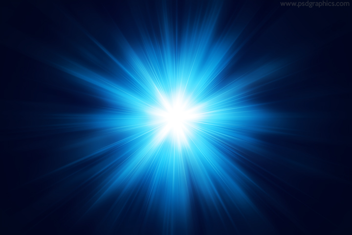 Blue light flare