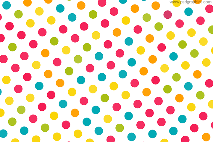 Colorful dots decoration
