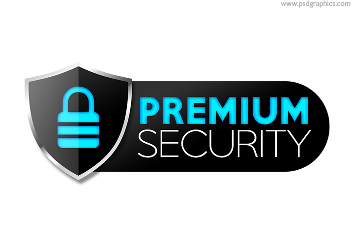 Premium security badge