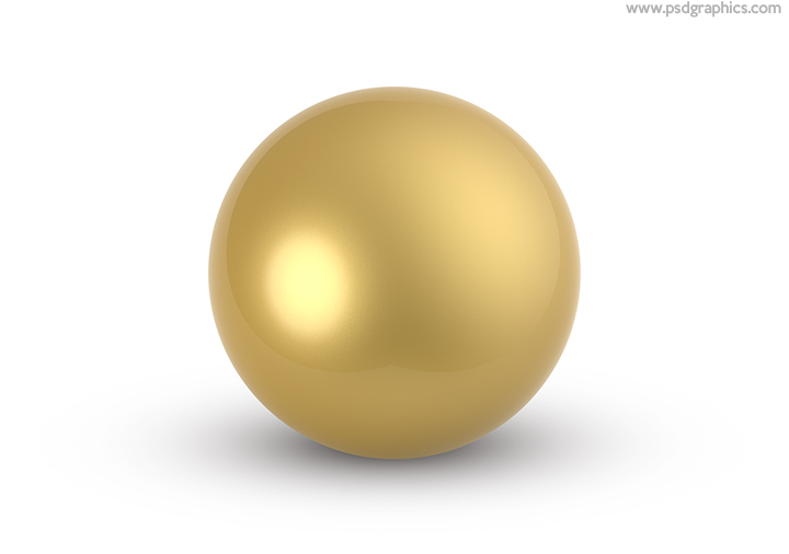 Gold ball template