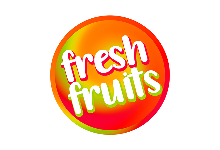 Fresh fruits sign