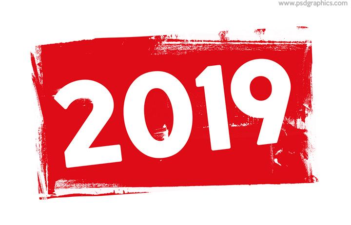 Year 2019 stamp
