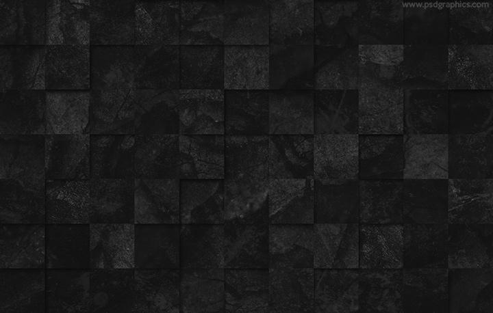 Black tiles texture