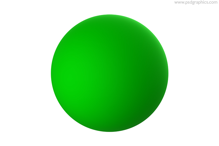 Green sphere isolated