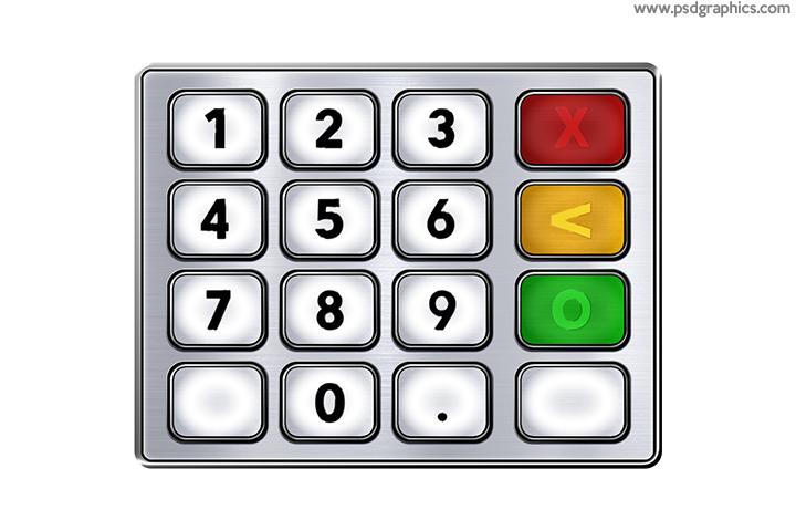 ATM keypad icon