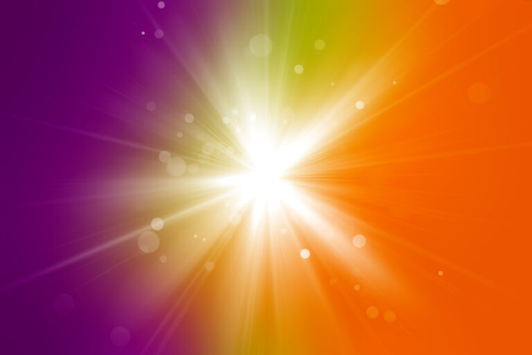 Hot summer purple and orange colors with a white flash background
