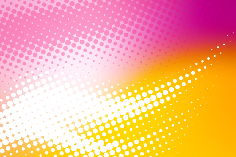 Sunny halftone pattern made of abstract yellow and pink gradient