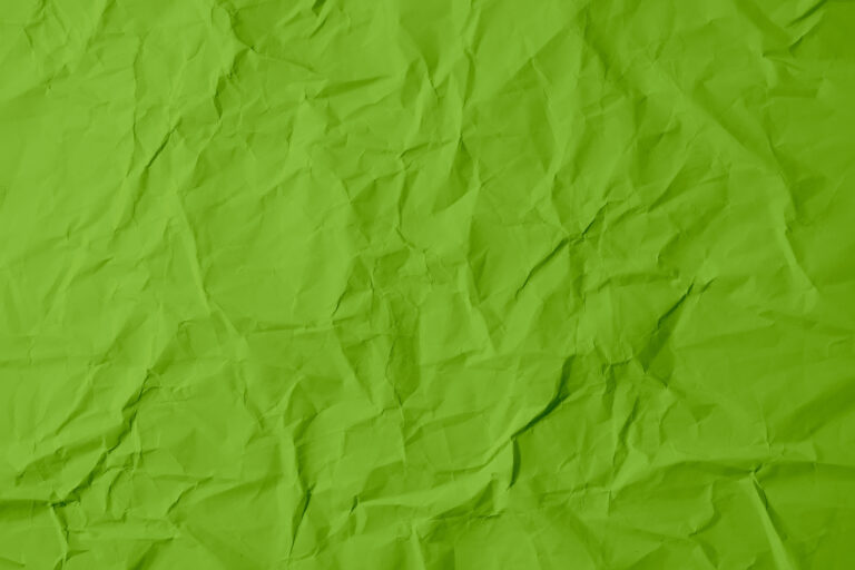 Green paper texture, crumpled and old-style natural material