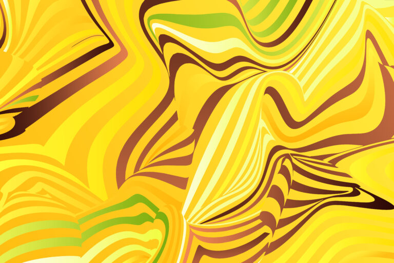 Abstract banana background, yellow stripes pattern