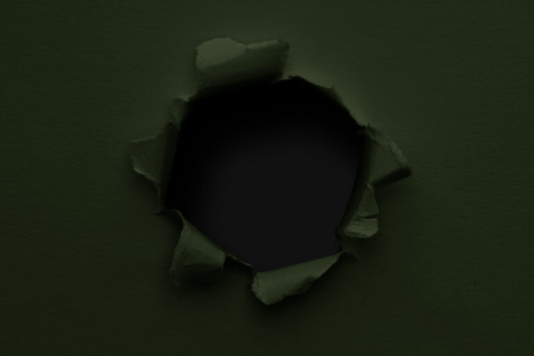Black bullet hole in a paper, green army style PSD template