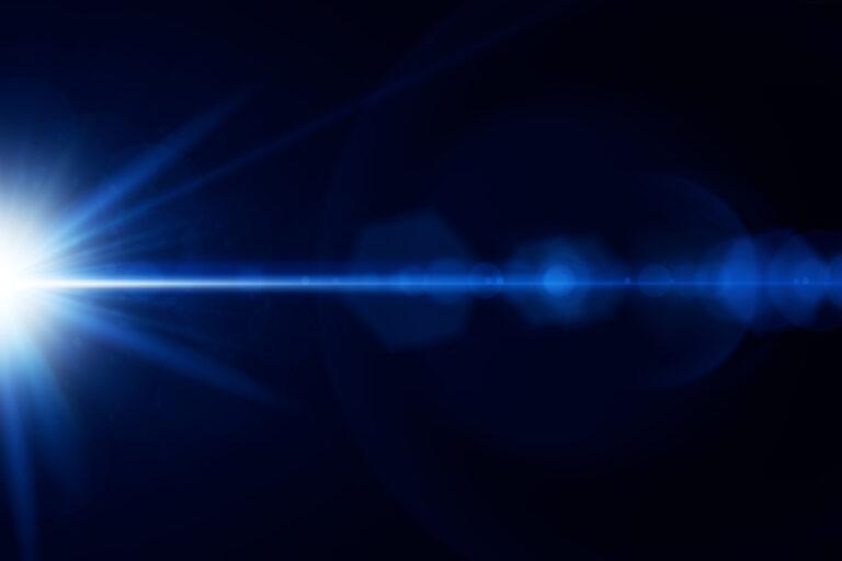 Blue lens flare overlay
