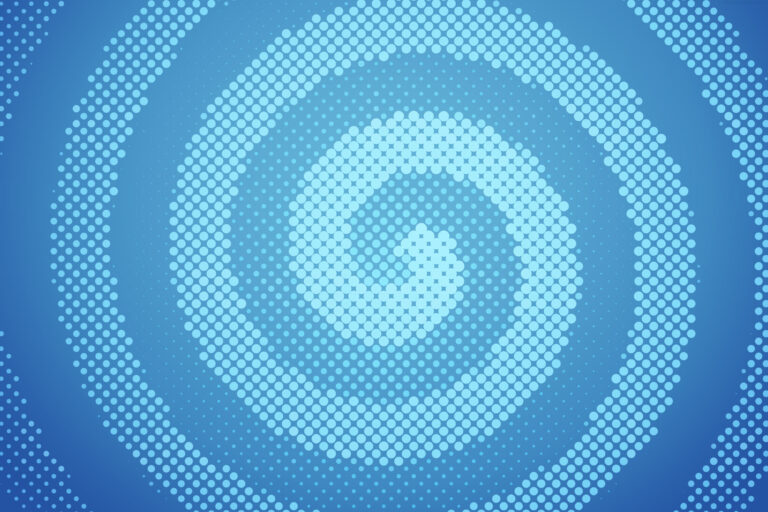 A light blue spiral halftone pattern PSD background