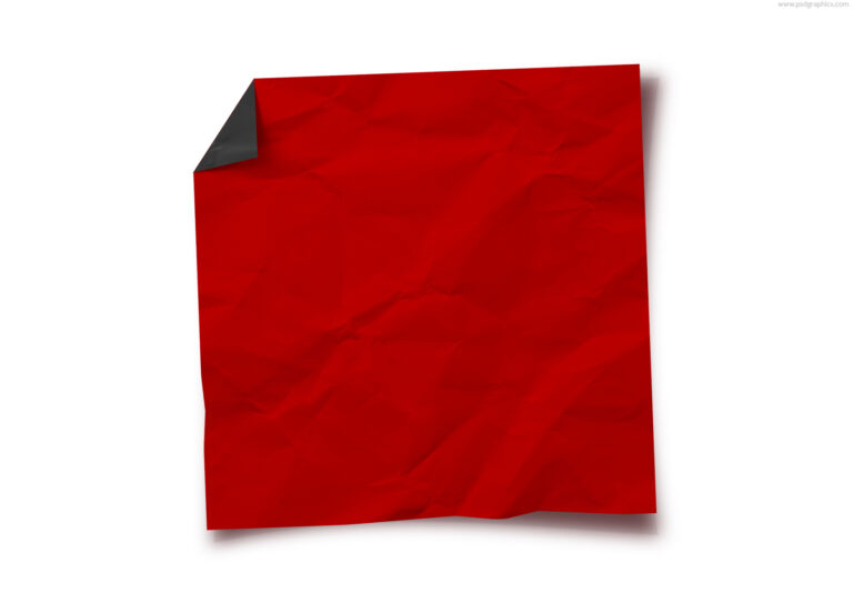 Blank red Christmas note PSD