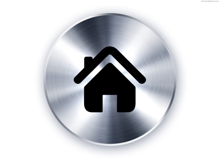 Metal home icon