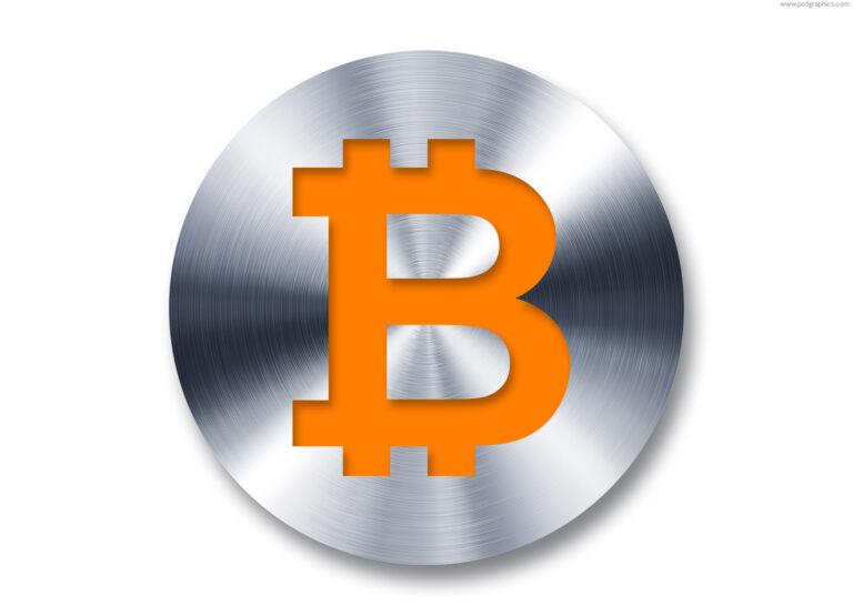 Metal Bitcoin button
