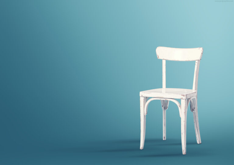 Old wooden chair PSD